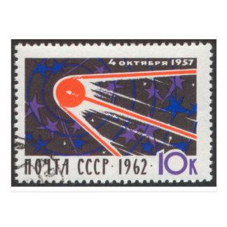 Cartão Postal Aniversário 1962 de Sputnik 1 5o