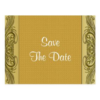 Cartão Postal Aniversário de casamento dos rolos 50th do ouro