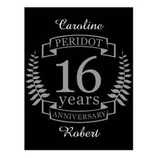 Cartão Postal Aniversário de casamento tradicional de prata 16