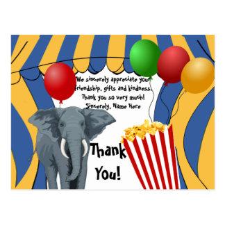 Cartão Postal Aniversário/obrigado do carnaval do circo você