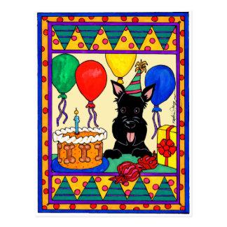 Cartão Postal Aniversário Scot de Happpy