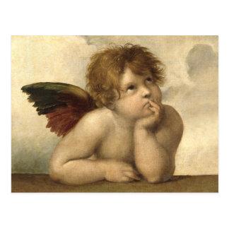 Cartão Postal Anjo 1 de Raphael