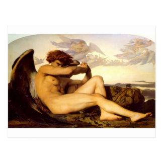 Cartão Postal Anjo caído Alexandre de Cabanel