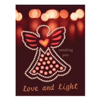Cartão Postal Anjo compassivo CC0125 do amor e da luz