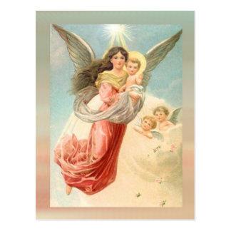 Cartão Postal Anjo-da-guarda com crianças
