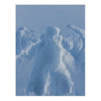 Cartão Postal anjo de nevoso