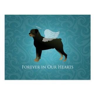 Cartão Postal Anjo de Rottweiler - design memorável do animal de