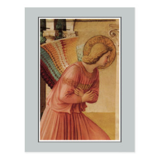 Cartão Postal Anjo do aviso por Fra Angelico