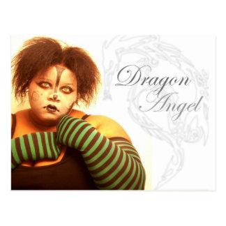 Cartão Postal Anjo do dragão de BBW