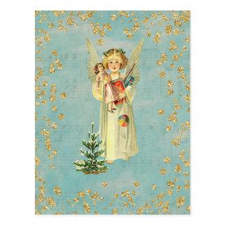 Cartão Postal Anjo do natal vintage