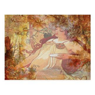 Cartão Postal Anjo do outono