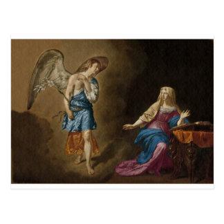 Cartão Postal Anjo e Mary do aviso