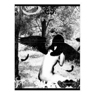 Cartão Postal Anjo escuro