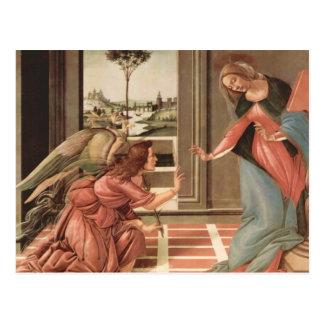 Cartão Postal Anjo Gabriel e Mary