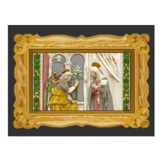 Cartão Postal Anjo Gabriel o aviso a Mary