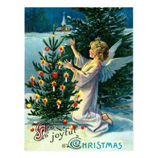 Cartão Postal Anjo que decora a árvore de Natal 2