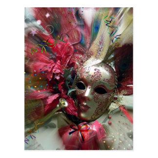 Cartão Postal Anjo vermelho da fantasia