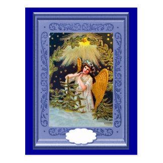 Cartão Postal Anjo voado sob uma estrela