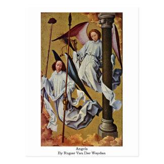 Cartão Postal Anjos por Rogier van der Weyden