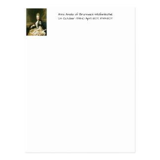 Cartão Postal Anna Amalia de Brunsvique-Wolfenbuttel 1739-1807