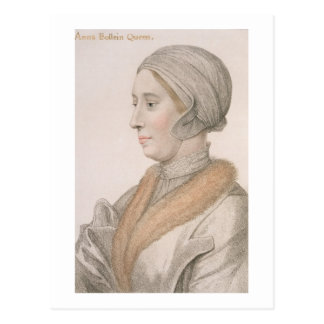 Cartão Postal Anne Boleyn (1507-36) gravada por Francesco Bartol