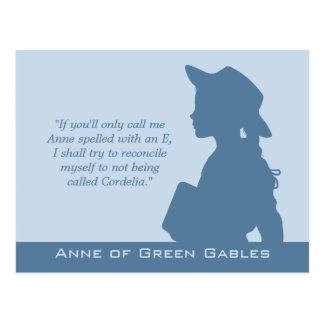 Cartão Postal Anne de citações verdes dos frontões CC0949