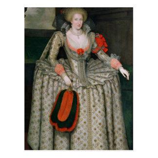 Cartão Postal Anne de Dinamarca, c.1605-10