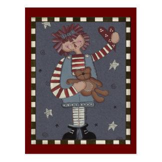 Cartão Postal Annie Raggedy