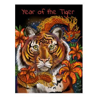 Cartão Postal Ano chinês do tigre