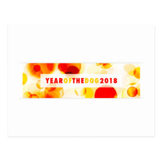 Cartão Postal Ano da bandeira 2018 de Bokeh do cão