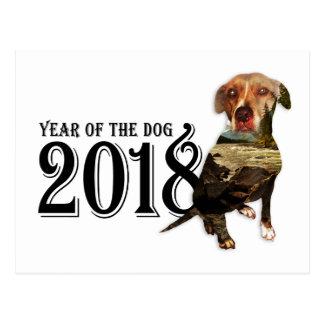Cartão Postal Ano da exposição dobro do cão 2018