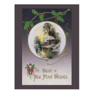 Cartão Postal Ano novo pelo córrego velho do moinho