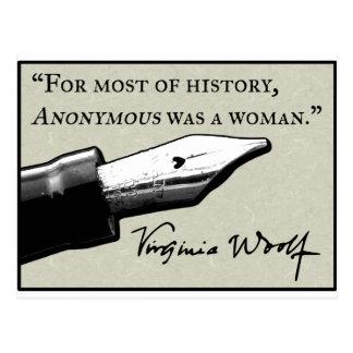 Cartão Postal Anónima era uma mulher