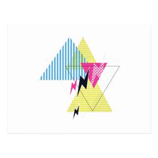 Cartão Postal Anos 80 do flash do triângulo do parafuso de