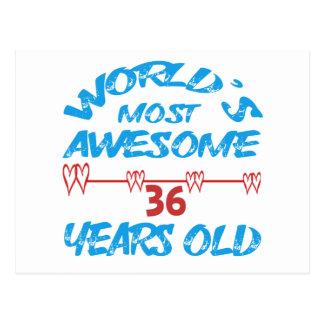 Cartão Postal Anos os mais impressionantes do mundo os 36 velhos