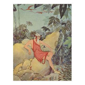 Cartão Postal Antaeus e os pigmeus