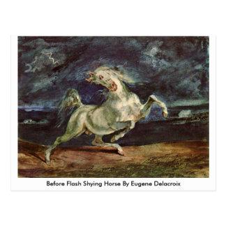 Cartão Postal Antes do cavalo de recuo instantâneo por Eugene