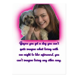Cartão Postal Antes que você obtiver um cão