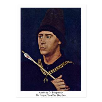 Cartão Postal Anthony de Borgonha por Rogier van der Weyden