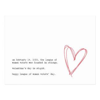 Cartão Postal Anti dia dos namorados
