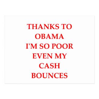 Cartão Postal anti piada de obama