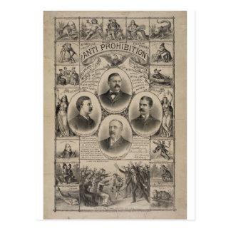 Cartão Postal Anti proibição por Kurz & por Allison (1888)