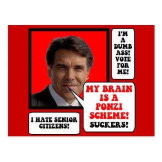 Cartão Postal anti Rick Perry