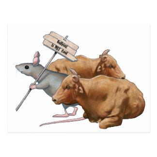 Cartão Postal Anti-Tiranizar: Touros, rato: Tiranizando nao