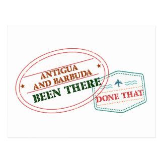 Cartão Postal Antígua e Barbuda feito lá isso