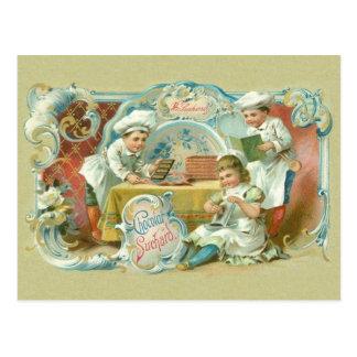 Cartão Postal Antiguidade dos padeiros do chocolate