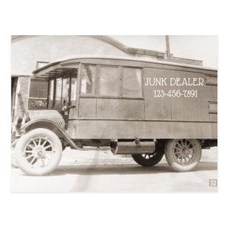Cartão Postal Antiguidades do Monochrome do caminhão da