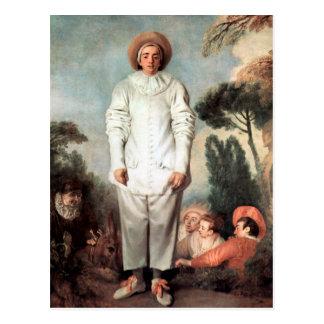 Cartão Postal ANTOINE WATTEAU - Pierrot (Gilles) 1718