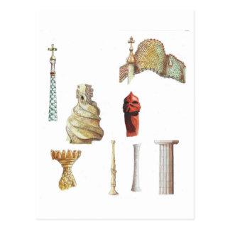 Cartão Postal Antonio Gaudi. Barcelona. Espanha. Arquitectónico