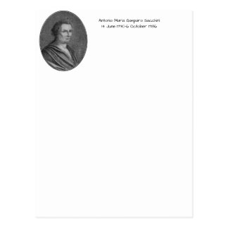 Cartão Postal Antonio Maria Gasparo Sacchini